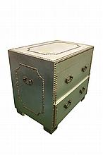 Metal Clad 2 Drawer Campaign Chest