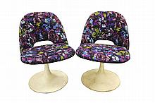Pair Saarinen Style Pedestal Chairs (Lot of 2)
