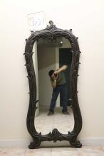 Dark Brown Hallway Mirror