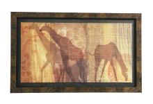 Painting of Giraffe Silhouettes
