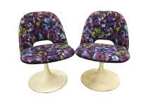 Pair Saarinen Style Tulip Chairs (Lot of 2)