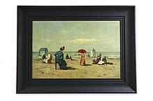 Oil Painting of Beach Scene