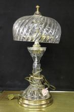 Glass & Brass Table Lamp