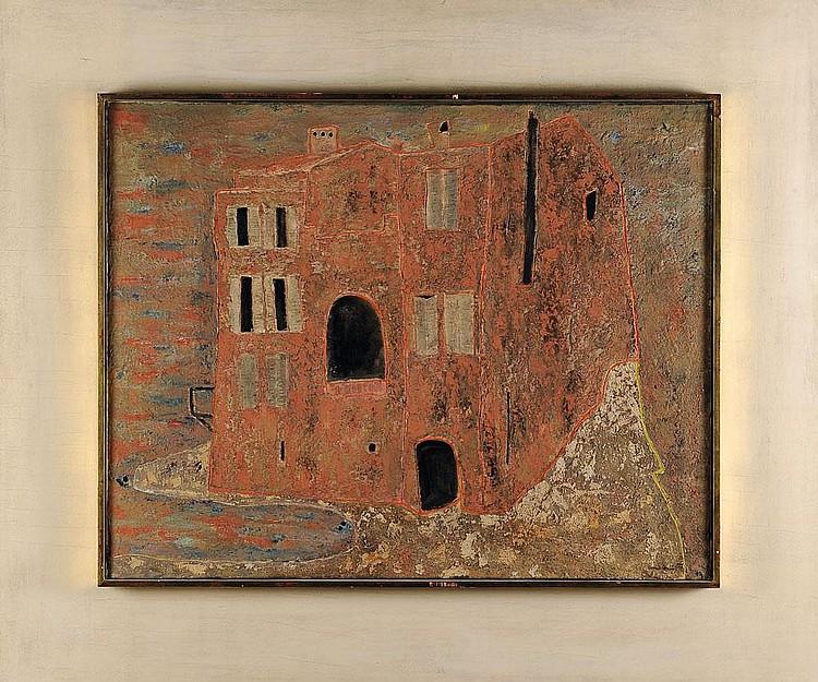 RENE GUIETTE (1893-1976) La Rascasse, 1949 Huile sur toile. Signée et datée en bas à droite. H_73 cm L_92 cm