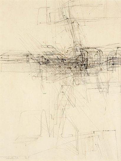 Jules Lismonde (1908-2001) Sans titre, 1973 Fusain
