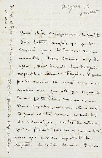SAND MAURICE (1823-1889). Lettre autographe signée