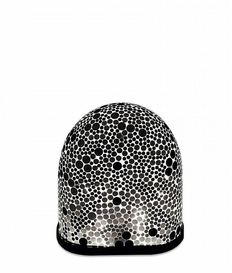ISABELLE FARAHNICK - Pièce unique Lampe BLACK PEA composée d'un globe de verre de pastilles de papier et d'acier. Édition limitée ...