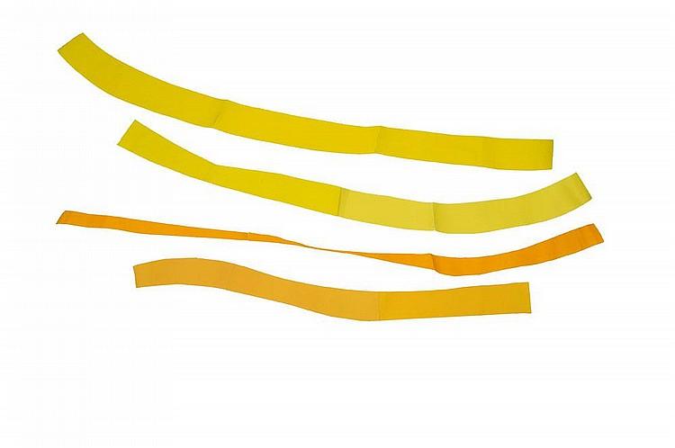 GUY MEES (1935-2003) Verloren Ruimte, 1990 Papier coloré (jaune) H_150cm L_190cm