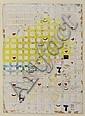 ROGER SELDEN (NE EN 1945) Sans titre, 1977 Technique mixte sur carton. Signé, daté 3/12/77 et situé Milan en bas à droite. H_33 cm..., Roger Selden, Click for value