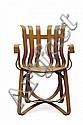FRANK O. GEHRY (NE EN 1929) Chaise modèle « Side » Construction cartonnée ondulée. Edition Vitra. Création du modèle en 1972. H_85...