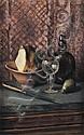 DUNCAN GRANT (1885-1978) Nature morte au verre Toile marouflée sur carton Signée au dos H_45 cm L_27 cm