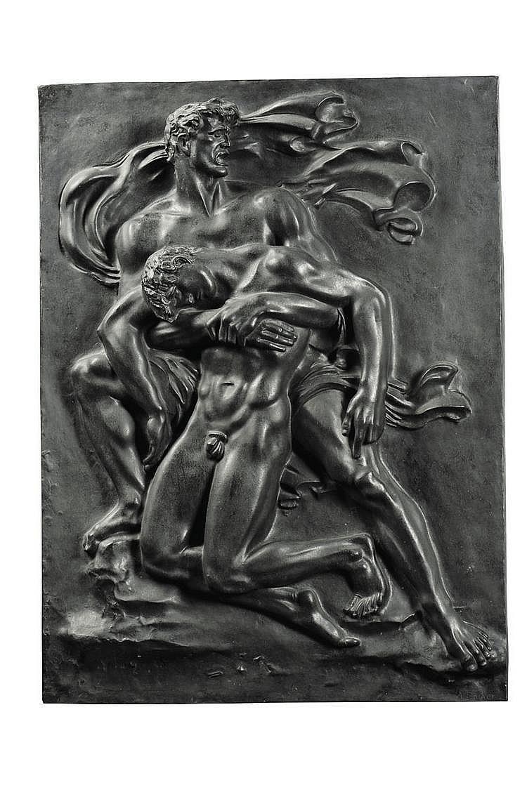 ARNO BREKER (1900-1991) Kameraden Relief, 1939/1940 Bas-relief en bronze Signé en bas à droite Edition H.S.D. à 10 exemplaires H_1...