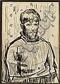 RIK WOUTERS (1882-1916) Autoportrait Encre sur papier Signée au dos Certificat de Madame Wouters à l'arrière H_14 cm L_10 cm..., Rik Wouters, Click for value