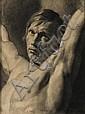FRANÇOIS JOSEPH NAVEZ (1787-1869) Etude d'homme, 1816 Mine de plomb sur papier Signé et daté en bas à gauche H_50 cm L_37 cm..., Francois-Joseph Navez, Click for value