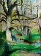 Edouard Degaine (1887-1967) Paysage Pastel 1928, Edouard Degaine, Click for value
