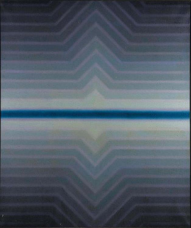 ANDRE BEULLENS (1930- 1976) Nerolux VI, 1967 Huile sur toile. Signée, titrée et datée au dos. H_144 cm L_120 cm