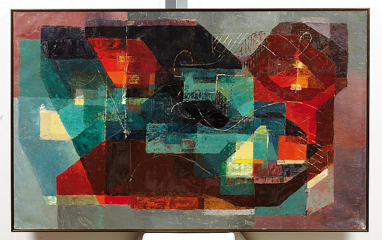 LANCELOT NEY (1900-1965) Nu couché, 1947-1949 Huile sur toile. Signée et datée en bas à gauche. H_130 cm L_80 cm