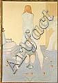 LEONOR FINI (1908-1996) L'éducation, 1971 Huile sur toile Signée et datée en bas à droite H_116 cm L_80 cm, Leonor Fini, Click for value