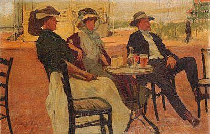 Frans Smeers (1873-1960) Collation au bord de la