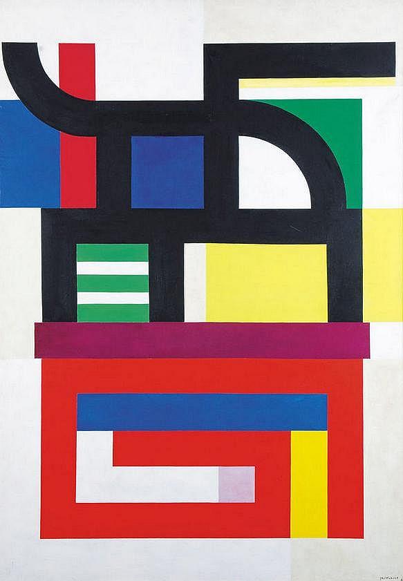 Jo Delahaut (1911-1992) Composition, 1960 Huile