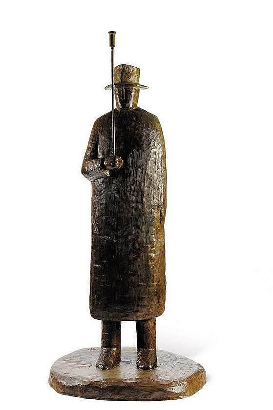 Jean-Michel Folon (1934-2005) Pluie, 1996 Bronze à