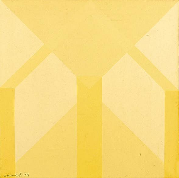Gilbert Swimberghe (1927) Composition, 1979 Huile