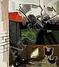 Jean Brusselmans (1884-1953) Cour de ferme, vers, Jean Brusselmans, Click for value