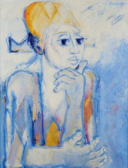 ROGER SOMVILLE (NÉ EN 1923) Arlequin Huile sur