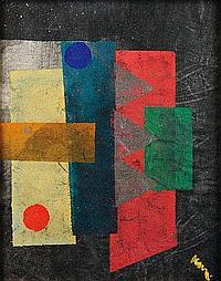 KAREL MAES (1900-1974) Composition Gouache sur