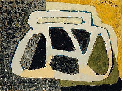 JEAN MILO (1906-1993) Siku Zote, 1954 Huile sur