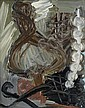 MICHEL FRERE (NE EN 1961) Sans titre, 1984 Huile sur toile marouflée sur carton. H_50 cm L_40 cm, Michel Frere, Click for value