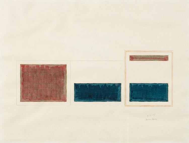 BRUCE BOICE Untitled, 1974 Encre, aquarelle et crayons de couleurs. Signé et daté. H_20,8 cm L_27 cm