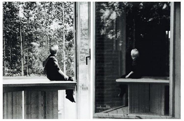 DAVID CLAERBOUT (NÉ EN 1969) Sans titre, 2004 Set de deux print noir et blanc Ed. 43/50. Signé au dos. H_39 cm L_29 cm