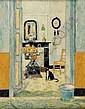 LOUIS THEVENET (1874-1930) Intérieur au poële de, Louis Thevenet, Click for value