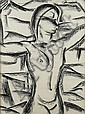 AUGUSTE MAMBOUR (1896-1968) Africaine Fusain sur, Auguste Mambour, Click for value