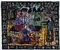 ROBERT COMBAS (NE EN 1957) Les amoureux des bancs publics, 1992 Acrylique sur toile. H_220 cm L_257 cm, Robert Combas, Click for value