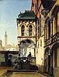 FRANÇOIS STROOBANT (1819-1916) Vue de béguinage, 1857 Huile sur toile. Signée et datée en bas à gauche. H_88 cm L_66 cm, Francois Stroobant, Click for value