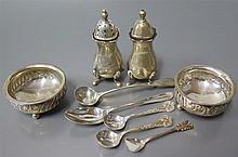 Sterling Silver Cruets and spoons, 144 g