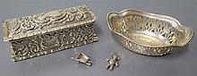 A Victorian Silver Rectangular Hinged Box Birmingham 1900, small silver pie