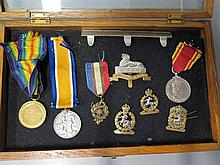 A WWI Medal Pair awarded to 2. LIEUT. F. HAMMOND., Royal Army Veterinary Co