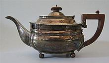 A George V Silver Teapot, London 1930, Harrods Ltd. Richard Woodmore Burbri