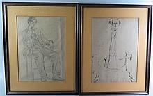 A Collection of Original Sketches, two signed D. Sinclair, largest 27 x 19