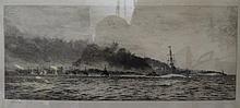 W.L. Wyllie, R.A., 1851-1931, WWI Bombardment of Warships, original pencil