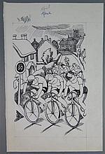 John Nash RA (1893-1977), The Countryside Book April, original pen and ink