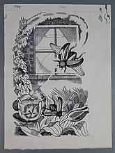 John Nash RA (1893-1977), The Countryside Book May, original pen and ink il