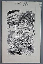 John Nash RA (1893-1977), The Countryside Book March, original pen and ink