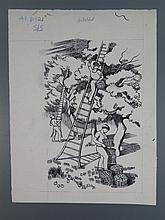 John Nash RA (1893-1977), The Countryside Book October, original pen and in