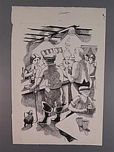 John Nash RA (1893-1977), The Countryside Book November, original pen and i
