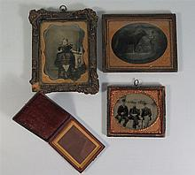 A Daguerreotype and Ambrotypes