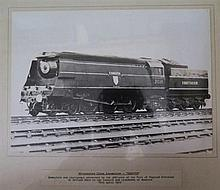 A Photograph of Westcountry Class Locomotive 'EXMOUTH' with inscription. Pr